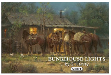 Bunkhouse Lights by G. Harvey