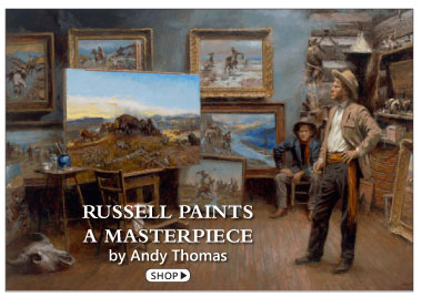 Russell Paints a Masterpiece by Andy Thomas