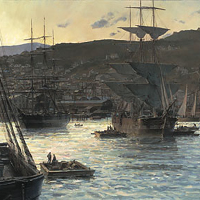 """Gold Rush Twilight (Remarque)"" by Christopher Blossom"