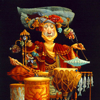 """Piscatorial Percussionist"" by James C. Christensen"