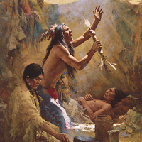 """Medicine Shield of the Cheyenne"" by Howard Terpning"