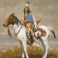 """Spirit of the Plains"" by Howard Terpning"