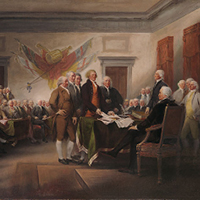 """The Declaration of Independence, July 4th 1776"" by John Trumbull"