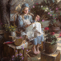 """The Needlepoint Artist"" by Morgan Weistling"