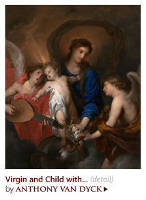 """Virgin and Child with Music-Making Angels"" by Anthony van Dyck"