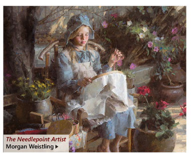 """""""The Needlepoint Artist"""" by Morgan Weistling"""