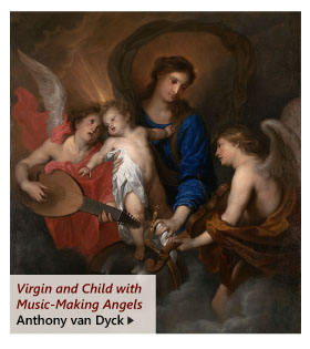 """""""Virgin and Child with Music-Making Angels"""" by Anthony van Dyck"""