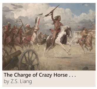 The Charge of Crazy Horse on Fort Laramie by Z. S. Liang