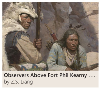 Observers Above Fort Phil Kearny by Z. S. Liang