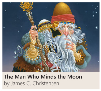 The Man Who Minds the Moon by James C. Christensen
