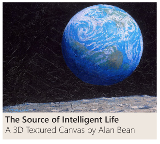 The Source of Intelligent Life - a 3D textured canvas by Alan Bean