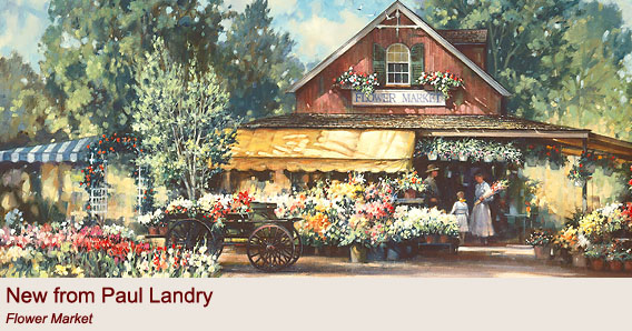 """Flower Market"" by Paul Landry"