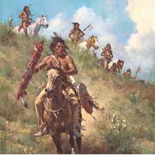 """The Honor of Being Pipe Carrier"" by Howard Terpning"