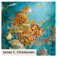 """Fantasies of the Sea"" by James C. Christensen"