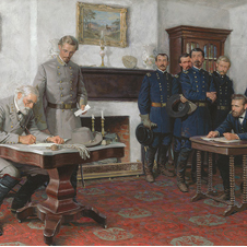 """Surrender at Appomattox"" by Tom Lovell"