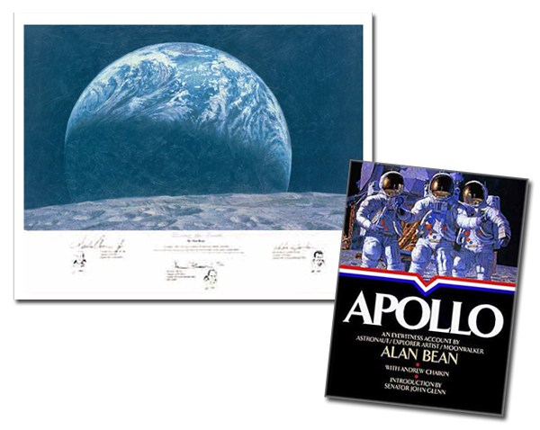 Alan Bean - APOLLO AN EYEWITNESS ACCOUNT -  COL. BOOK & PRINT Published by the Greenwich Workshop