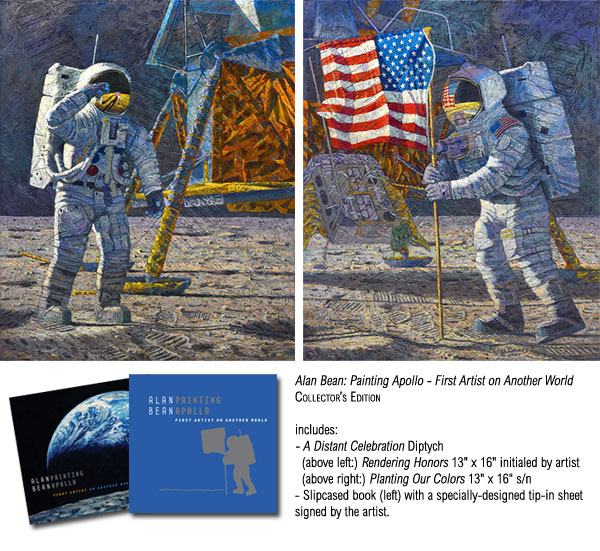 Alan Bean - Painting Apollo: First Artist on Another World -  COLLECTOR BOOK W/ L.E. CANVAS Published by the Greenwich Workshop