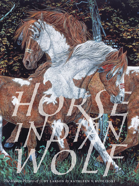 Judy Larson - Horse Indian Wolf -  TRADEBOOK Published by the Greenwich Workshop