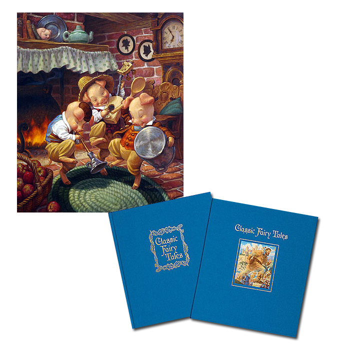 Scott Gustafson - CLASSIC FAIRY TALES W/THREE LITTLE PIGS -  COLL. BOOK & PRINT Published by the Greenwich Workshop