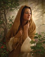 Mary Kept All These Things and Pondered Them in Her Heart&lt;br&gt; OPEN EDITION CANVAS