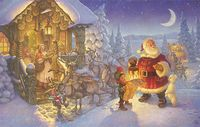 Santa at the North Pole&lt;br&gt; OPEN EDITION CANVAS