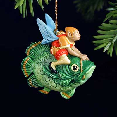 James C. Christensen - FOREST FISH RIDER -  ORNAMENT Published by the Greenwich Workshop