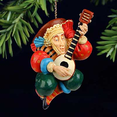 James C. Christensen - THE LUTE PLAYER -  ORNAMENT Published by the Greenwich Workshop