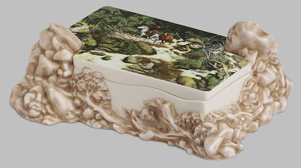 Bev Doolittle - THE FOREST HAS EYES BOX -  OPEN EDITION PORCELAIN Published by the Greenwich Workshop