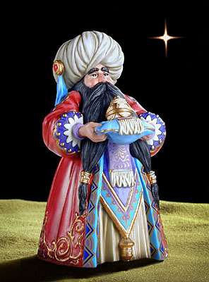 James C. Christensen - BALTHASAR 2ND WISE MAN -  PORCELAIN Published by the Greenwich Workshop