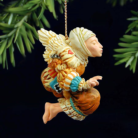 James C. Christensen - BENEDICTION -  PEARL BISQUE ORNAMENT Published by the Greenwich Workshop