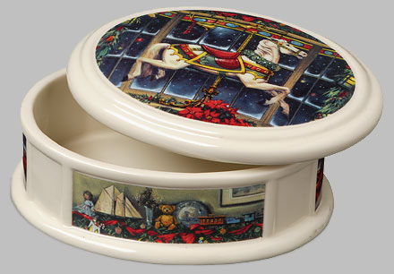 Paul Landry - CHRISTMAS CAROUSEL PONY BOX -  OPEN EDITION PORCELAIN Published by the Greenwich Workshop