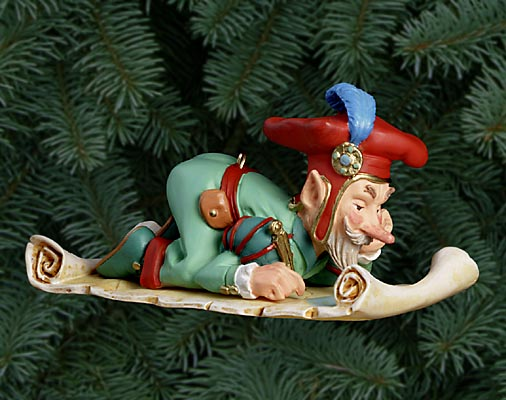 Scott Gustafson - CRUQUIUS SGROOTEN ELF -  PEARL BISQUE ORNAMENT Published by the Greenwich Workshop