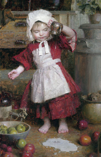 Morgan Weistling - Spilled Milk -  LIMITED EDITION CANVAS Published by the Greenwich Workshop