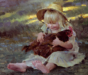 Morgan Weistling - Emmie´s Catch -  LIMITED EDITION CANVAS Published by the Greenwich Workshop