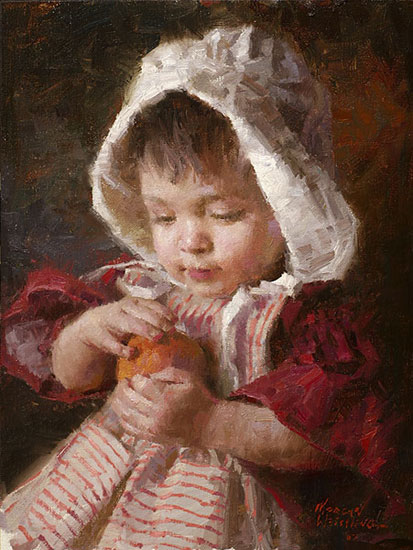 Morgan Weistling - Juicy Peach -  LIMITED EDITION CANVAS Published by the Greenwich Workshop