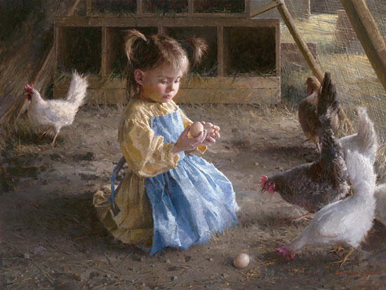 Morgan Weistling - The Egg Inspector -  LIMITED EDITION CANVAS Published by the Greenwich Workshop