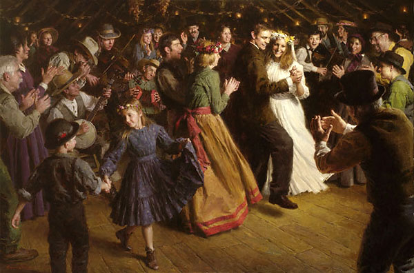 Morgan Weistling - The First Dance, 1884 Americana -  LIMITED EDITION CANVAS Published by the Greenwich Workshop