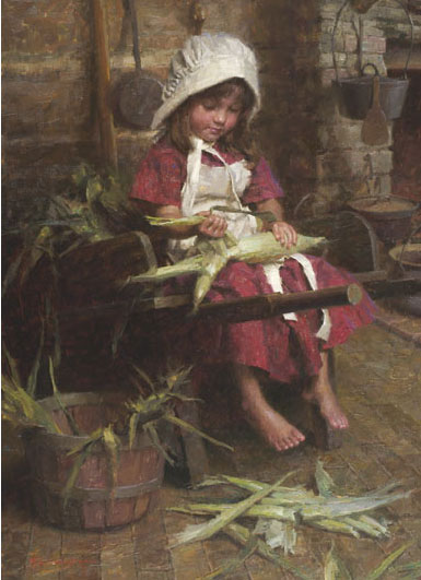 Morgan Weistling - Emily´s Corn -  LIMITED EDITION CANVAS Published by the Greenwich Workshop
