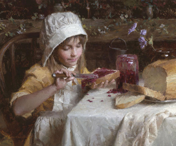 Morgan Weistling - Strawberry Jam -  LIMITED EDITION CANVAS Published by the Greenwich Workshop