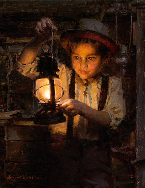 Morgan Weistling - Ethan´s Lantern -  SMALLWORK CANVAS EDITION Published by the Greenwich Workshop