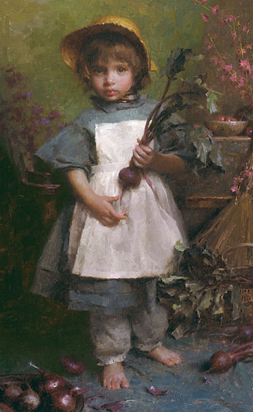 Morgan Weistling - The Gardener -  LIMITED EDITION CANVAS Published by the Greenwich Workshop