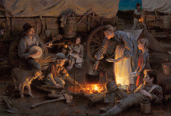 Morgan Weistling - Oregon Trail Family, 1848 -  LIMITED EDITION CANVAS Published by the Greenwich Workshop
