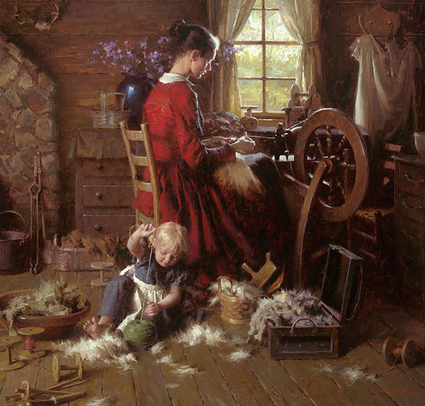 Morgan Weistling - A Helping Hand -  MASTERWORK CANVAS EDITION Published by the Greenwich Workshop