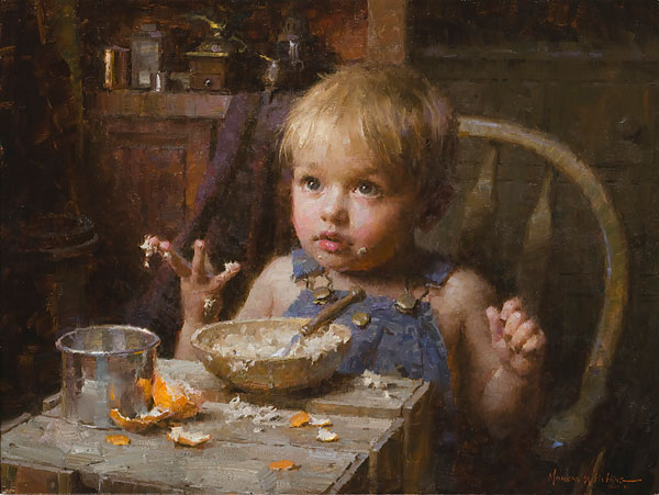 Morgan Weistling - Bowl of Oats -  LIMITED EDITION CANVAS Published by the Greenwich Workshop