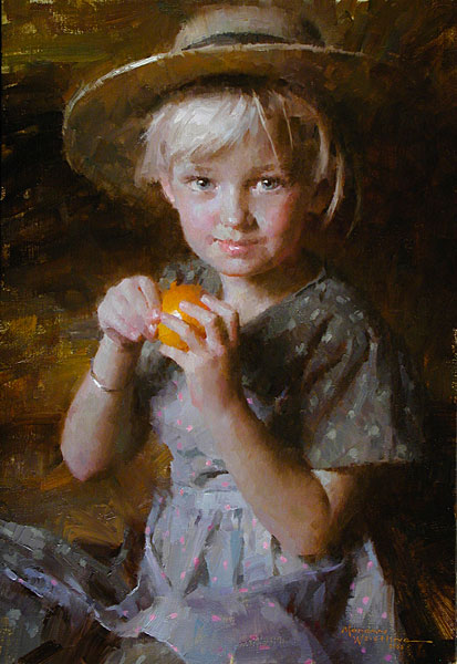 Morgan Weistling - Tangerine -  SMALLWORK CANVAS EDITION Published by the Greenwich Workshop