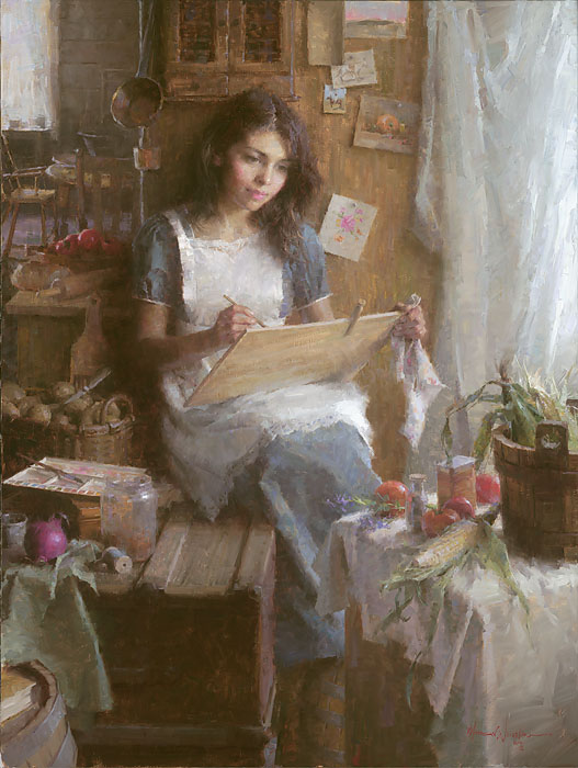 Morgan Weistling - The Artist -  LIMITED EDITION CANVAS Published by the Greenwich Workshop