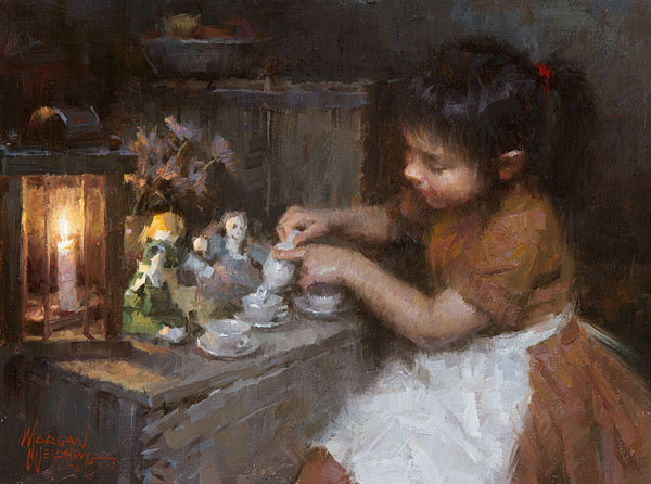 Morgan Weistling - Sienna´s Tea -  SMALLWORK CANVAS EDITION Published by the Greenwich Workshop