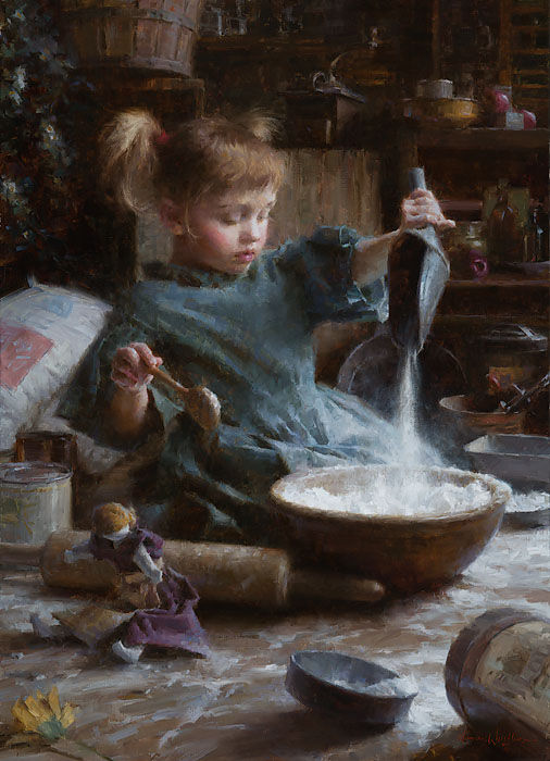 Morgan Weistling - Flour Child -  LIMITED EDITION CANVAS Published by the Greenwich Workshop