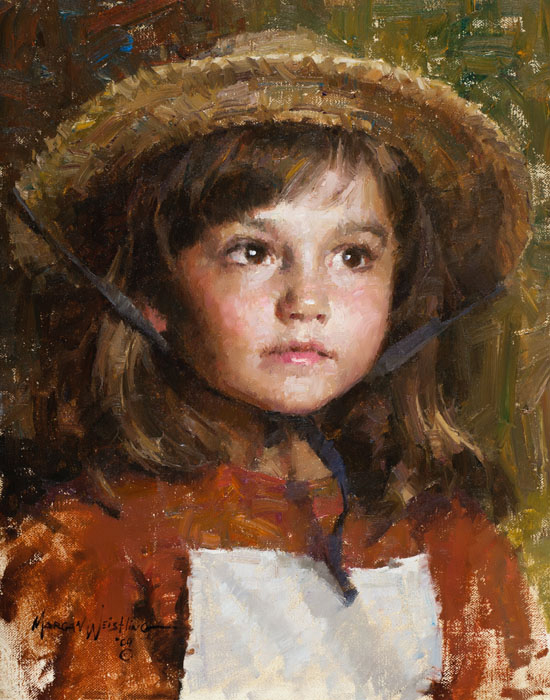 Morgan Weistling - Straw Hat -  SMALLWORK CANVAS EDITION Published by the Greenwich Workshop