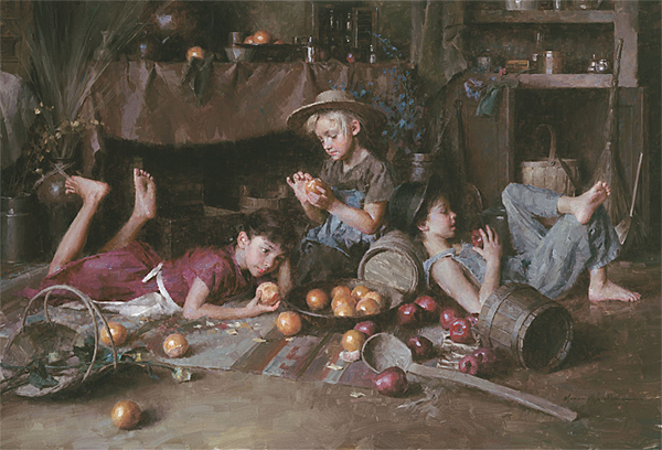 Morgan Weistling - Apples and Oranges -  LIMITED EDITION CANVAS Published by the Greenwich Workshop
